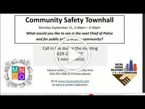 09/21/20 Community Oversight Board Committee: MHRC Community Safety Townhall Meeting