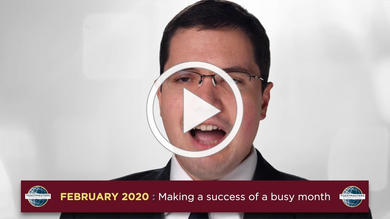 District 91 Director - February Message 'Making the most of a busy month'