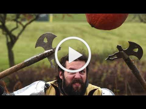 Medieval Times knights enjoy National Pumpkin Destruction Day