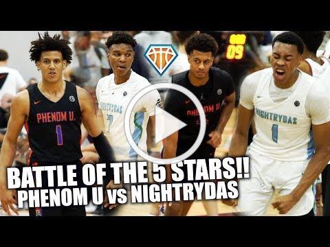 BATTLE OF THE 5-STARS!! | Scottie Barnes vs Jalen Johnson HEADLINES PhenomU & Nightrydas Matchup