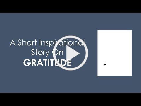 An inspirational story on gratitude | A black dot story | Short moral story