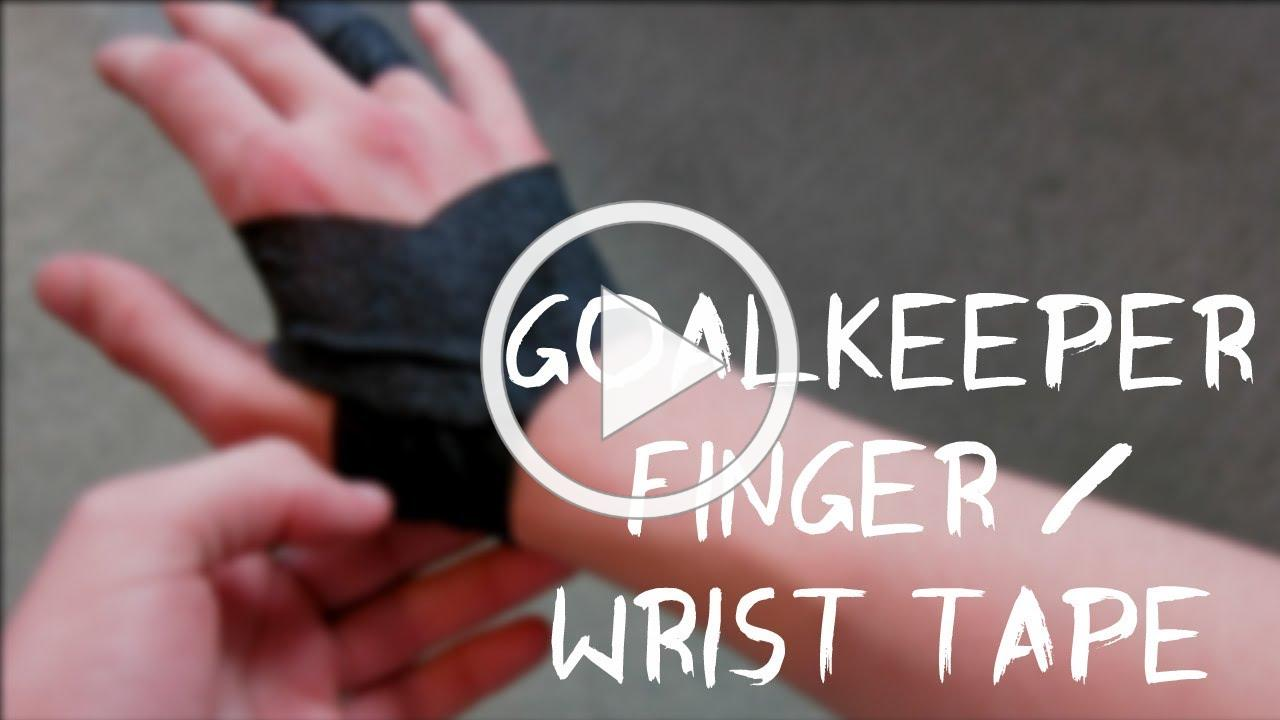 How to use finger tape - How to Goalkeeper tape your Wrists and fingers