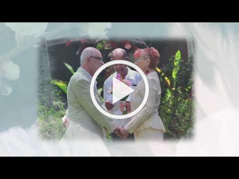 Peter Johansen and Oxana Sawka Vow Renewal at Sunset at the Palms Negil Jamaica