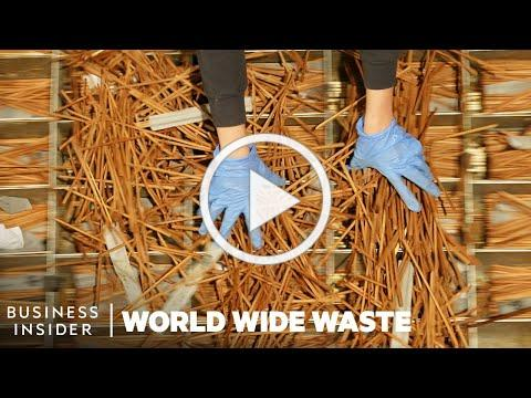 How Used Chopsticks Are Turned Into Tables, Tiles, And Other Furniture | World Wide Waste