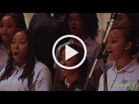 The Spelman College Glee Club performs 'Lift Every Voice and Sing'