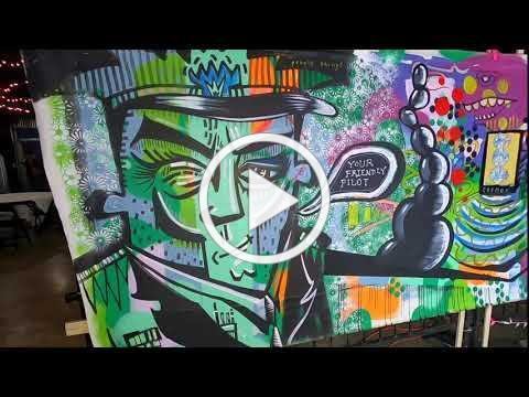 The Solo Roths: Rob Lynch and Mathew Sagurney Live Painting at Music Is Art 2019