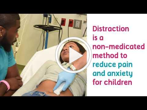 Child Life Specialists Provide Distraction Techniques - Nicklaus Children's Hospital