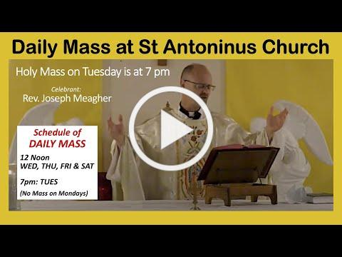 Live streamed MASS - Tuesday, October 13 @ 7pm. St Antoninus Church