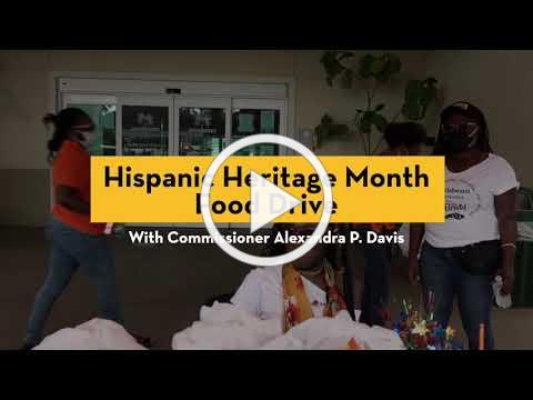 Hispanic Heritage Food Drive with Commissioner Alexandra P. Davis