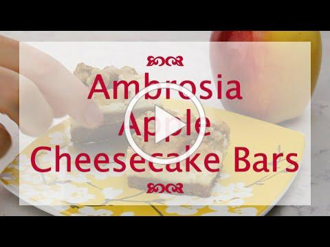 Ambrosia Apple Cheesecake Bars Recipe