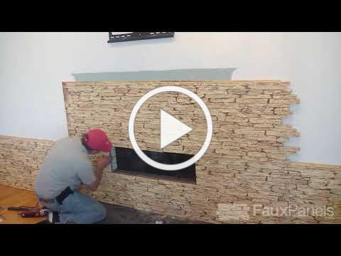 Install a Faux Stone Fireplace Surround: Step-by-Step Demo