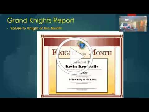 Kevin Kenneally Knight of Month July 2020