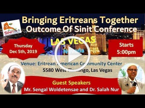 Outcome Of Sinit Conference - LAS VEGAS - Thursday Dec 5th, 2019