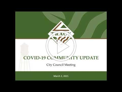 City of Tracy: March 2nd Tracy City Council COVID-19 Response & Community Recovery Plan Update