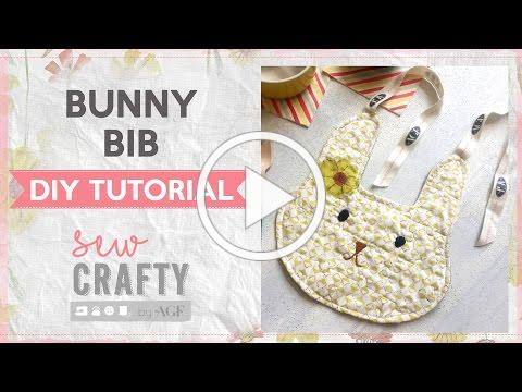 How to sew a bunny bib? Easter sewing Tutorial - Sew crafty by AGF