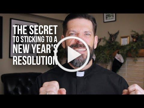 The Secret to Sticking to a New Year's Resolution