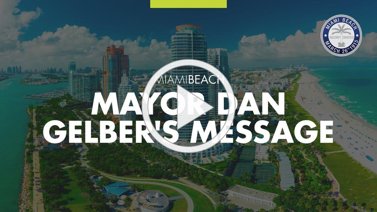 Mayor Dan Gelber's COVID19 Update 5.27.2020