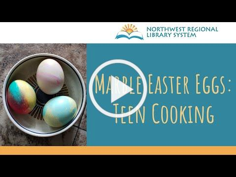 Marble Easter Eggs: Teen Cooking