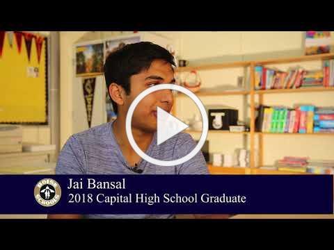 Meet Capital High School 2018 Graduate Jai Bansal