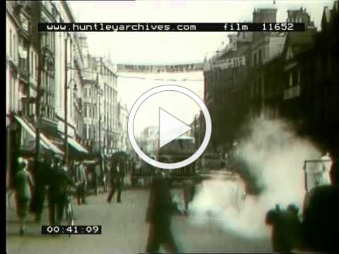 Cardiff Trams, 1920's - Film 11652