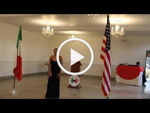 2020 Casa Italia Vocal Scholarship - LiPuma Scholarship Winner - November 8, 2020, Video 1