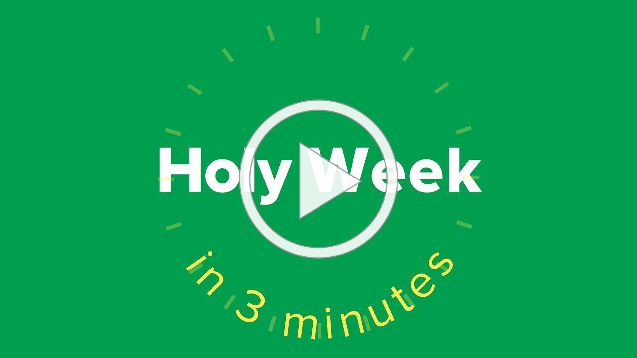 Holy Week in Three Minutes