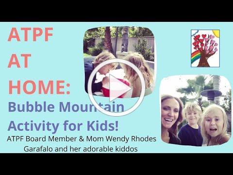ATPF Board Member Wendy Garafalo & Kids Make Bubble Mountain