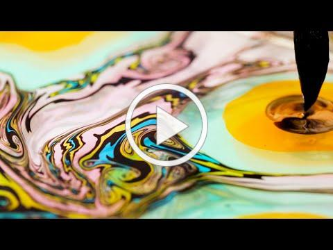 The Art of Suminagashi Japanese Marbling | Craft Therapy | Apartment Therapy