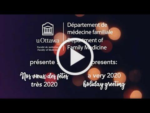Nos vœux des fêtes *très* 2020 | A *very* 2020 holiday greeting