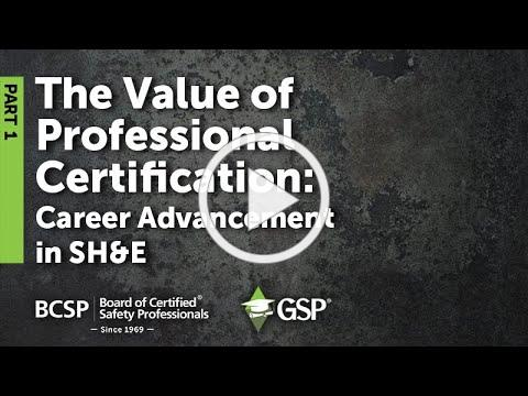 BCSP QAP Webinar on College as Start to a Safety Career | Part 1