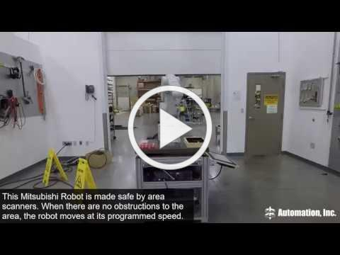 Safety Area Scanner on Mitsubishi Robot