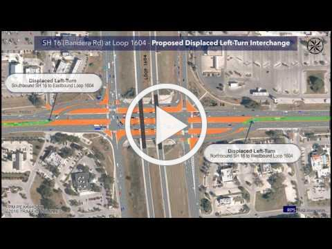SH 16 at Loop 1604 Existing and Proposed