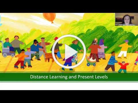 Distance Learning and Present Levels: What are they, why does it matter, and preparing for the Fall