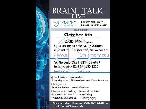 Emory BrainTalk Live, October 6, 2020