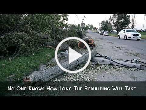 2020 Iowa Derecho storm footage