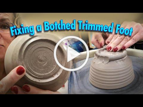 Three Easy Ways to Fix a Botched Trimmed Foot on the Potter's Wheel