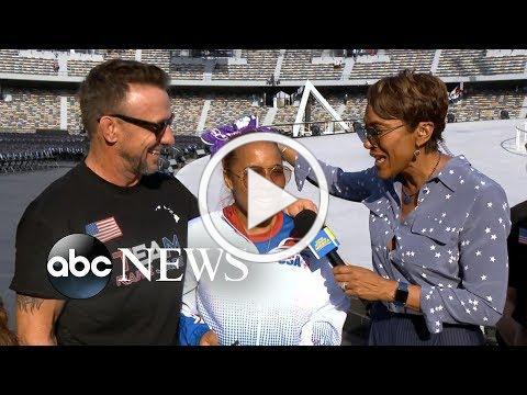 Special Olympics athlete Rainie Jade Thompson speaks live from Abu Dhabi | GMA