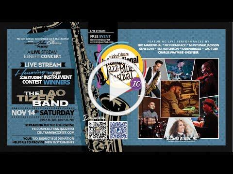 The John Coltrane International Jazz & Blues Festival presents a Live Stream Benefit Concert!