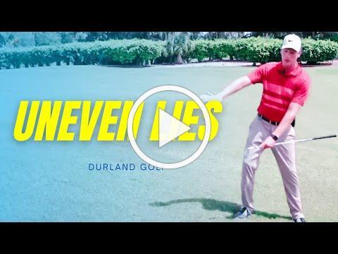 GOLF TIP | How To Hit A Golf Ball Solid - UNEVEN LIES