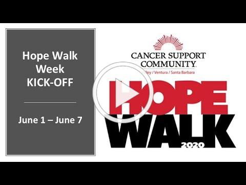 Hope Walk Week 2020 Kick Off