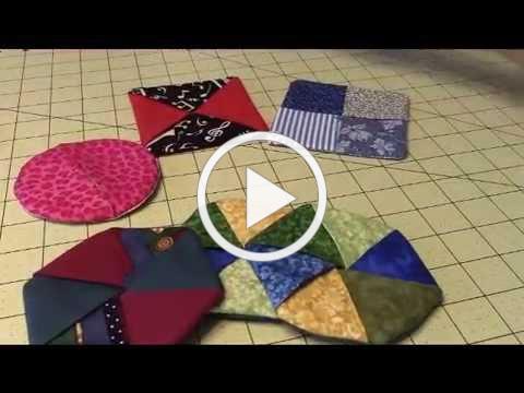 Folded Fabric Coasters