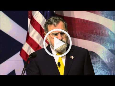 Rabbi Lord Jonathan Sacks at AIPAC