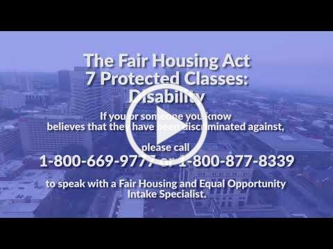 The Fair Housing Act Protected Classes: Disability