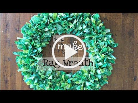 How to Make a Rag Wreath for Saint Patrick's Day or any other occasion