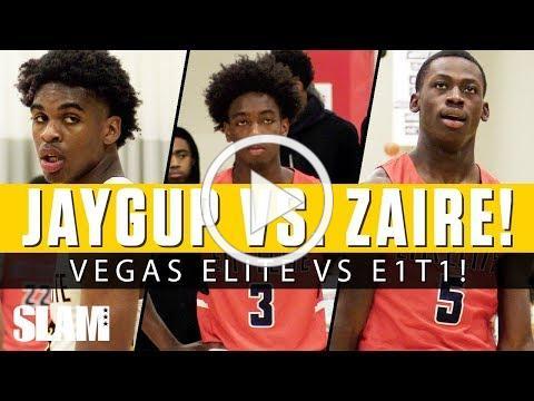 Josh Christopher vs. Zaire Wade! Vegas Elite vs. E1T1 in EYBL Indy!
