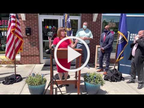 Congresswoman Kathy Manning celebrates the kickoff of the Restaurant Revitalization Fund Grants