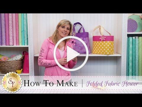 How to Make a Folded Fabric Flower | a Shabby Fabrics DIY Craft Tutorial