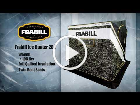Ice fishing season is here. Set up in a Frabill ice shelter and get to work!