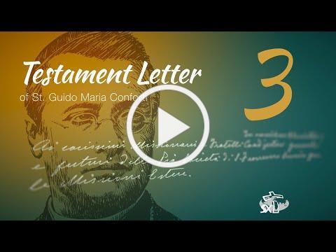 Episode 3: Testament Letter of St Guido Maria Conforti