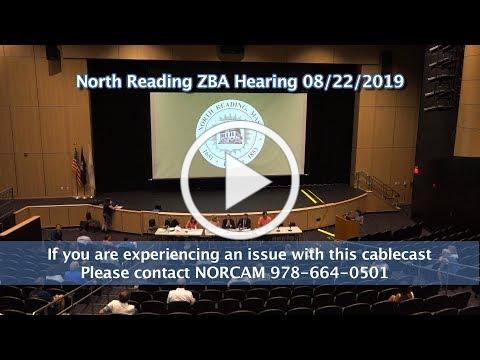North Reading Zoning Board of Appeals Public Hearing 8/22/19